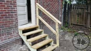Carpentry door steps