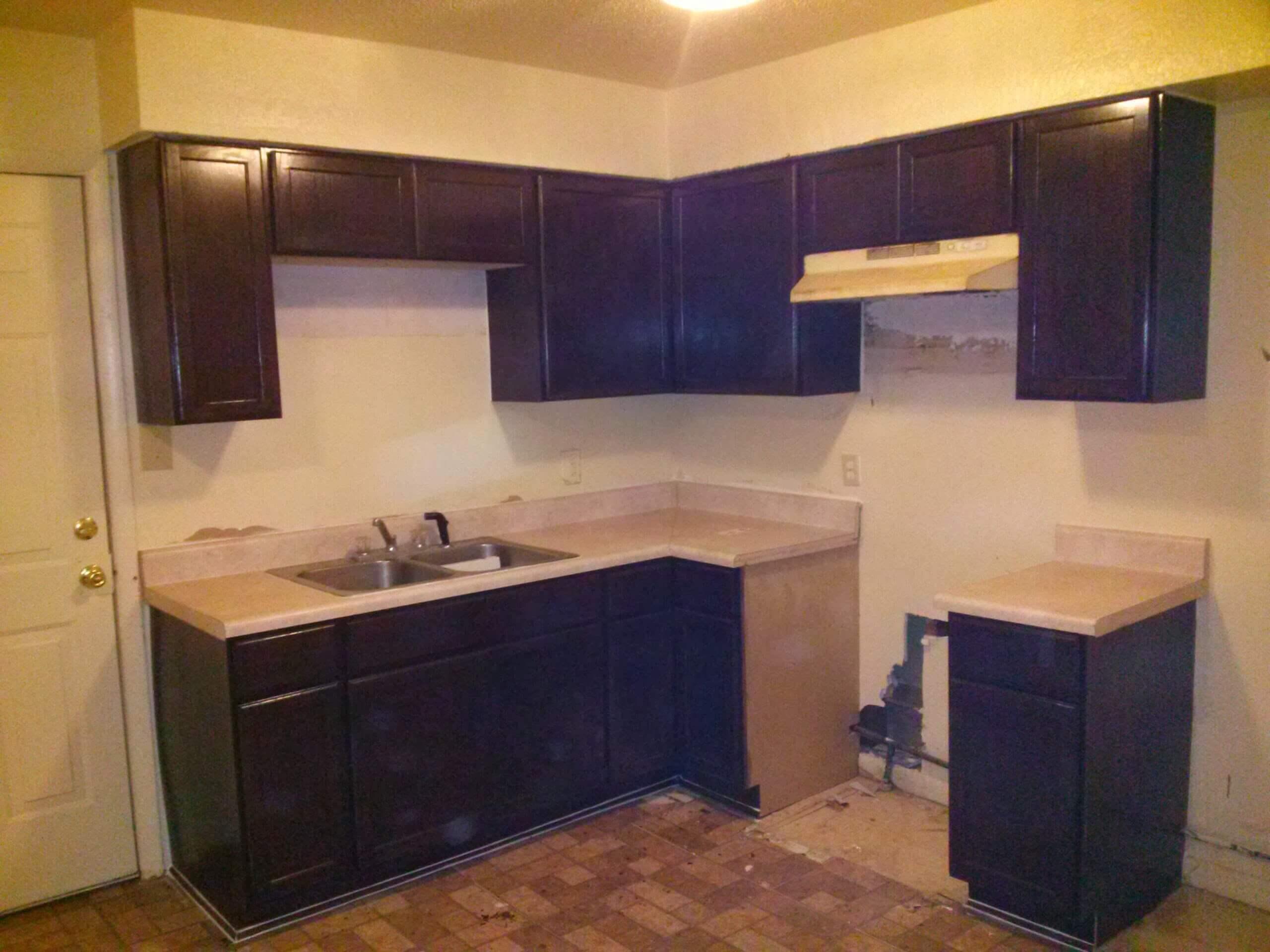 kitchen cabinets mocha stain