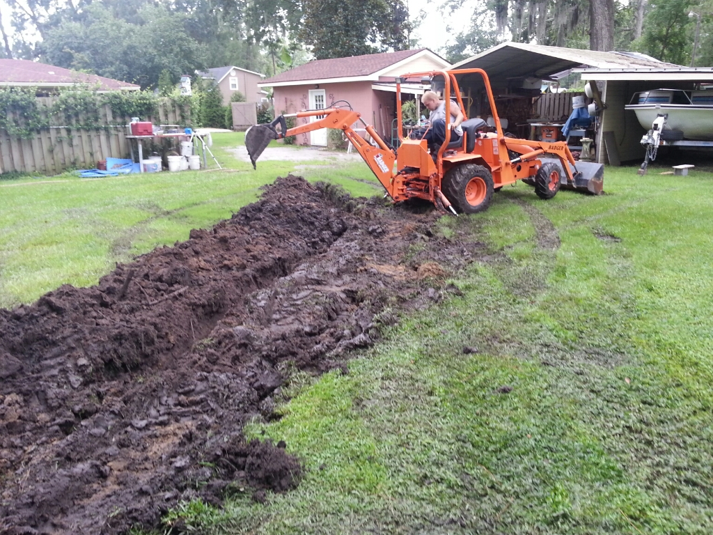 Digging For French Drain