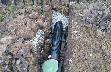 French Drain Installation Savannah Pooler Richmond Hill Georgia (3)
