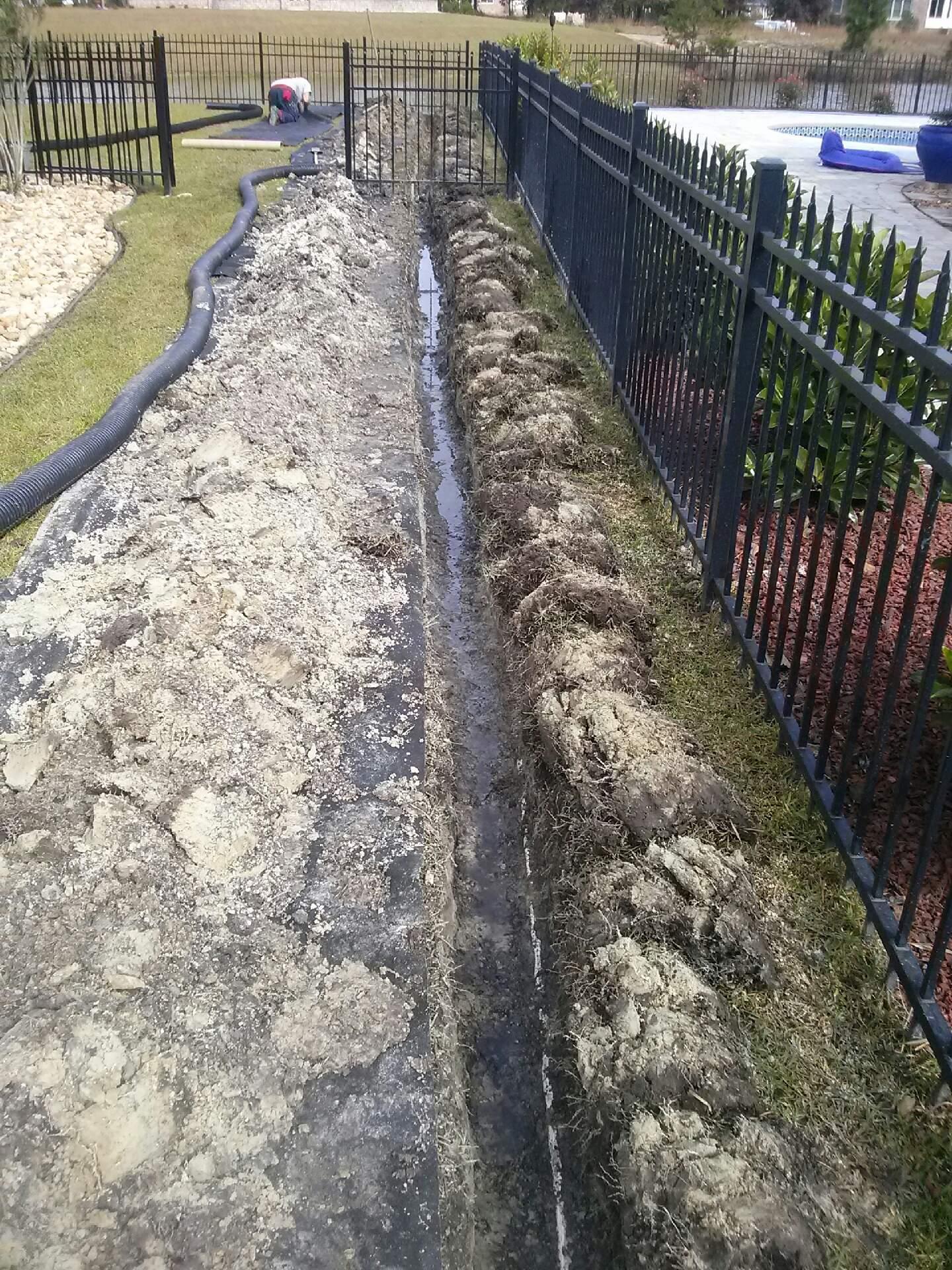 Drainage French Drains Savannah Pooler Richmond Hill