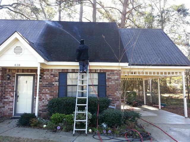 Roof Soft Washing Savannah Georgia