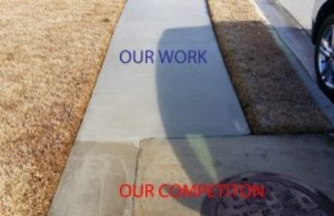 Concrete Cleaning Comparison