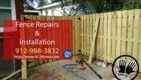 Fence Repairs and Installation Savannah Georgia