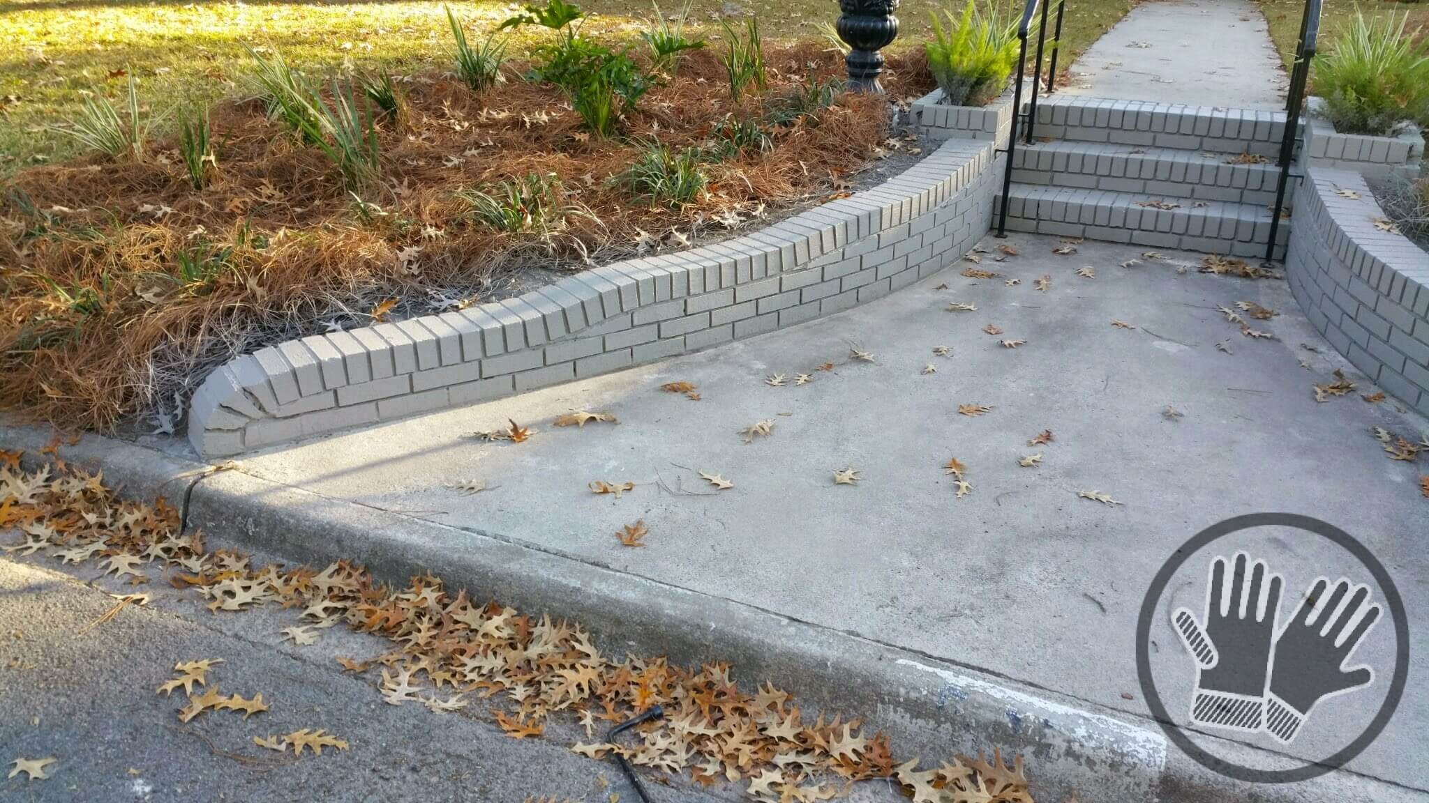 how to build a brick retaining wall with steps