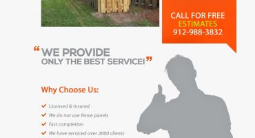 Fence Repairs and Installation Savannah Georgia Flyer