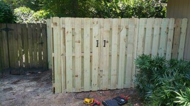 shadow box fence installation
