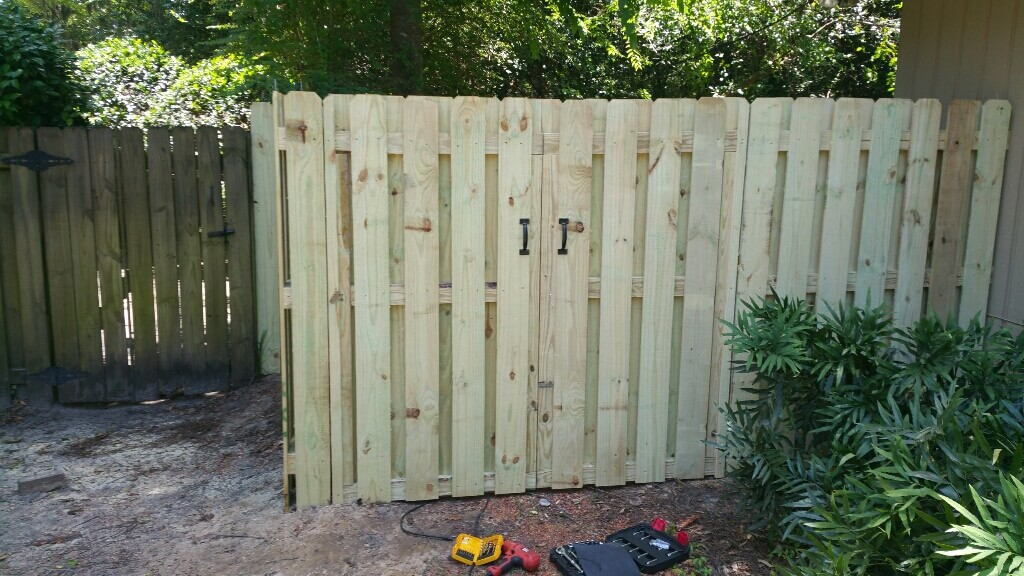 Shadow Box Fence Installation Chatham Property Maintenance